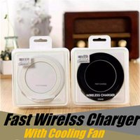 Wholesale charger qi samsung s7 edge online – QI Wireless Charger Pad Fast Charger With Fan Vertical Fast Standing Charging Compatible For Samsung Galaxy S7 S6 Edge S6 IPhone X