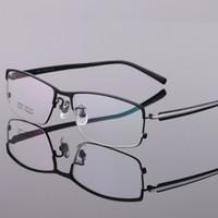 anteojos flexibles marcos hombres al por mayor-Coyee Pure Titanium Business Optical Eyeglasses Frames Diseñador de la marca Gafas de calidad superior para los hombres de moda de media llanta Flexible