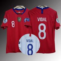 camisolas venda por atacado-Chile 19 20 Copa America camisa de futebol ALEXIS VIDAL VARGAS MEDEL CH. ARANGUIZ 19 Chile terno de futebol em casa e fora de casa Versão tailandesa