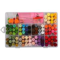 многоцветная детская пряжа оптовых-109pcs вышивки зубочистки с организацией Box Cross Kit Вышивка Thread Sewing Thread Струнный Комплект для дружбы браслет Флоссе