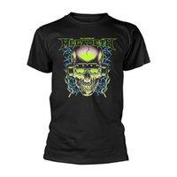 schädelkopfhörer großhandel-Megadeth '35 Jahre Kopfhörer Schädel 'T-Shirt - NEUE Mann-Frauen-Unisexart und weiset-shirt Freies Verschiffenschwarzes