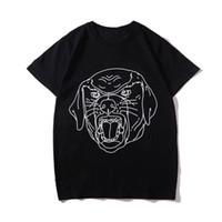 ingrosso un pezzo pistole-T-shirt estiva di lusso Moda stampa animalier T-shirt da uomo firmata Maniche corte Uomo Donna T-shirt casual di alta qualità