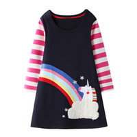 Wholesale white feathers costume resale online - Girls Clothes Kids Christmas Dress Spring Autumn Girls Princess Dress Long Sleeve Animals Printed Children Costume Girl Dress