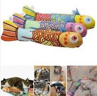 brinquedos animais de estimação gato transporte gratuito venda por atacado-Frete grátis 38 centímetros Peixe brinquedo Cat Forma Interativa Fantasia Catnip Cat Toy hortelã produtos para animais Supplies engraçado Brinquedos