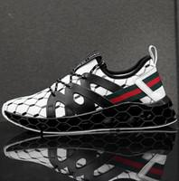 levées de lame achat en gros de-La dernière version de la lame la moins chère des chaussures de sport pour hommes volant des chaussures en maille respirante tissée respirante à lacets chaussures de course 7-12 shippin gratuit