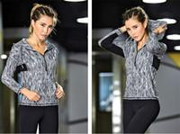 одежда йоги высокого качества оптовых-Модальное высокое качество с капюшоном модная одежда для йоги уникальный лимитированный выпуск бега пальто работает фитнес быстросохнущая повседневная куртка