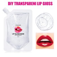 Wholesale DIY Clear Lipgloss Plumping Nutritious Liquid Base Oil Moisturizing Non stick Lipstick Long Lasting Glitter Material Gel Makeup