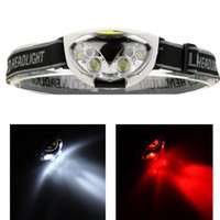 luzes de caça led venda por atacado-6 Luzes LED 1200 Lumens 3 Modos Farol Farol Ao Ar Livre para Pesca Camping Caminhadas Ciclismo Caça Com CAIXA ZZA292