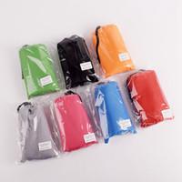 plaj battaniyesi çantası toptan satış-100 * 140 cm Açık Su Geçirmez Plaj Battaniye Taşınabilir Kamp Piknik Kum Mat Seyahat çantası ile Katlanabilir Cep Pad 20 ADET AAA1694
