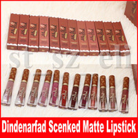 Wholesale wear lipstick resale online - Faced Gingerbread Lip Gloss Melted Matte Limited Edition Dindenarfad Scenked Liquified Matte Long Wear Liquid Lipstick colors