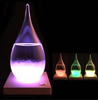 şişeleri bırakmak toptan satış-Hava Durumu Şişe Kristal Tempo Su Damlası Küre 15 * 8 cm Desktop Hava Durumu Cam Yaratıcı Craft Sanat Hediye GGA2923 Damlası