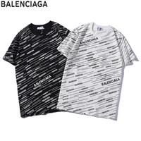 roupas novas na moda venda por atacado-Mens Designer T Camisa de Luxo Letra B Top Tees Padrão de Moda Mangas Curtas para a Roupa Casal Casal 2019 Verão Nova Moda T-shirt. B50