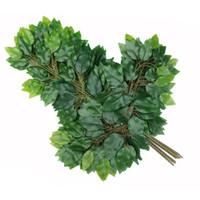 yapay ağaç yaprakları toptan satış-500 adet Yapay yaprak dekorasyon sahte yapraklar plastik ağaç dalları simülasyon ipek çiçek banyan ginkgo biloba düğün bırakır