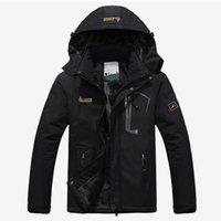 kışlık ceketler unisex parkas toptan satış-Erkekler Kış Kadife Parka Ceket Plus Size 6XL Kapşonlu WINDBREAKER Erkekler 2019 Sıcak Kalın Parkas yastıklı Coat Unisex Moda Dış Giyim MX191119