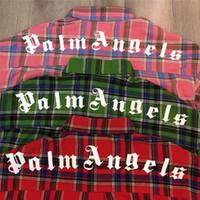neue plaidhemden großhandel-Neue Palm Angels Shirt Männer Frauen 1p: 1 Hochwertige Hip-Hop Top Tees Palm Angels Shirts