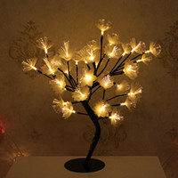 Wholesale optic yellow resale online - Led fiber optic flower decorative table lamp warm bedroom bedside lamp Christmas gift lights flashing lights string light stars