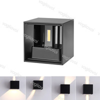 COB Outdoor LED Wall Lamp 7W Modern Waterproof Aluminum Garden Parking Garage Light EPACKET