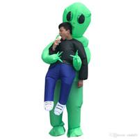 aufblasbare kostüme für frauen großhandel-Halloween Männer Frauen Funny Kidnapped by Aliens Cosply Kostüme Männlich Weiblich Party Maskottchen Kostüme Aufblasbare Kleidung