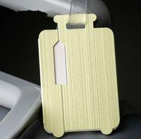 namenskartenentwurf großhandel-2019 Reisezubehör Modedesign Aluminiumlegierung Reisegepäck Label Board Card Straps Koffer Name ID Adresse Tags