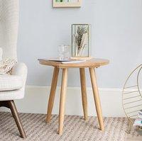 ingrosso tavolo basso moderno in legno-Mobilia moderna di stile semplice Piccola famiglia Soggiorno Mobili pratici Soggiorno Tavolo da tè Tavolo da caffè Angolo tondo