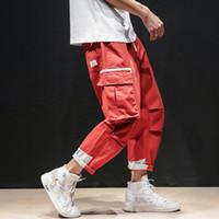 hose marke koreanischen großhandel-Frühling Herbst Flut Marke Overalls Cargo Hosen Männer Korean Fashion Lose knöchellangen Hosen Streetwear Multi Pockets Hosen Männer