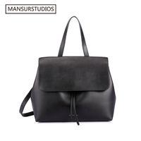 Wholesale satchels totes army bags for sale - Group buy Mansurstudios Classics Shouder Bag mansur Women Leather Lady Bag Gavriel Lady Real Leather Hand Bag Y19061803