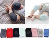 Wholesale baby knee elbow protector online - Baby Anti Slip Knee Pads Cute Cotton Newborns Socks Safety Crawling Elbow Cushion Knee Protector Leg Warmers TTA897