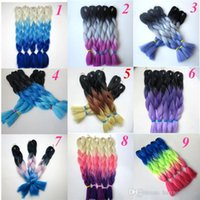 Wholesale ombre braiding hair xpression three tone for sale - Group buy Kanekalon Synthetic Jumbo braiding Hair Bulk g inch Ombre three Tone Xpression Crochet braids twist Synthetic hair extensions