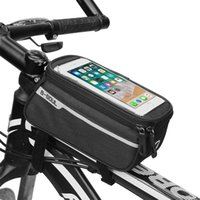 Wholesale bicycle phone holder case online – Sfit Bicycle Front Tube Bag Women Cycling Accessories Waterproof Bike Bags Front Cell Mobile Phone Case inch Holder Bicycle
