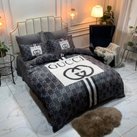 Wholesale plaid full bedding sets resale online - Queen Size Full Letter Bed Cover Sets Stripe Print Designs Pieces Autumn And Winter Bedding Supplies