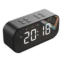 haut-parleur d'alarme bluetooth achat en gros de-AEC BT501 Portable Sans Fil Bluetooth Haut-Parleur Colonne Subwoofer Musique Boîte Sonore LED Temps Snooze Réveil pour PC Ordinateur Portable Téléphone