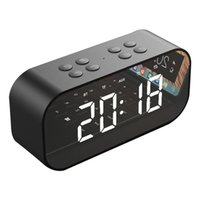 Wholesale sound boxes for mobile resale online - AEC BT501 Portable Wireless Bluetooth Speaker Column Subwoofer Music Sound Box LED Time Snooze Alarm Clock for PC Laptop Phone