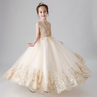 Wholesale birthday party dress child baby photo for sale - Group buy 2019 High Quality Children Party Dress Girls First Communion Dresses Flower Girl Dress for Party Dresses Child Baby Costume