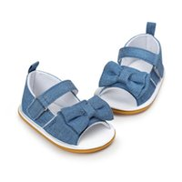 принцесса детская обувь девушки холст оптовых-Little Princess Baby Girls Shoes Infant Toddler Crib First Walkers Canvas Striped Big Bow Soft Soled Anti-Slip Shoes