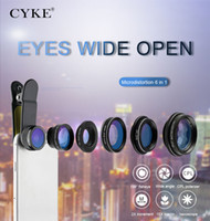 Wholesale lens filters online - CYKE Universal in1 Phone Camera Lens Fish Eye Lens Wide Angle macro Lens CPL Star Filter X tele for almost all smartphones