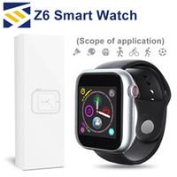 câmera bluetooth de relógios inteligentes venda por atacado-Mais novo z6 smartwatch para apple iphone smart watch bluetooth 3.0 relógios com suporte para câmera sim tf cartão para android telefone inteligente