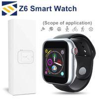 ingrosso telecamera a schermo bluetooth-Per Apple iphone Nuovo Z6 Sport Smart Watch Bluetooth 3.0 con fotocamera Touch Screen 1.54 pollici PK Q3 Q9 supporto Android Phone Sim TF Card