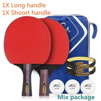 Wholesale paddle balls for sale - Table Tennis Racket Long Short Handle STARS Ping Pong Paddle Bat Set Balls
