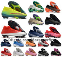 Wholesale cr7 boot cleats for sale - Group buy 2020 Mens Mercurial Superfly VII Elite SE FG Boys Womens CR7 Ronaldo Neymar MDS Soccer Shoes Football Boots Cleats Size