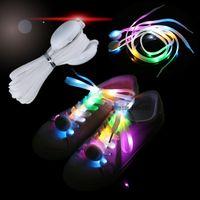 lacets de nylon menés achat en gros de-Flash LED 7COLORS Lacets LED Flash Light Light Up Glow Party Patinage Charme Lacets De Chaussures Running Jouets