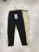 spor pantolonu tasarımı toptan satış-19SS Yeni Lüks Marka Tasarım BBR Uzun Pantolon Havlu Pantolon Tüm Maç Moda Şerit Hip-Hop Yüksek Streetwear Serin Spor Ourdoor Pantolon