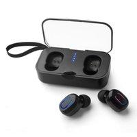 fone de ouvido iphone fábrica venda por atacado-Fábrica diretamente T18s Bluetooth 5.0 Fones De Ouvido TWS Fone de Ouvido Sem Fio de Ouvido Fone de Ouvido Handsfree Esportes com Microfone Caixa De Carregamento