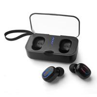 ingrosso auricolari per handsfree per iphone-Fabbrica direttamente T18s Bluetooth 5.0 Auricolari TWS Wireless Auricolare In-Ear Vivavoce Sport Auricolari con Mic Scatola di ricarica