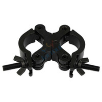 Wholesale 10pcs quot Load kg Black Double Ring Lights Hook Swivel Pipe Clamp For Professional Stage