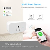 Wholesale switch outlet wifi resale online - Smart Wifi Sockets Wireless Switch Round US Plugs APP Remote Control Socket Outlet Timing Switch for Smartphones Android IOS Home Automation