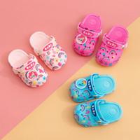 Wholesale sandals for girls medium resale online - Unicorn Sandals for Boy Girl Rainbow Shoes Summer Todder waterproof Animal Kids Beach shoes PVC Cartoon Kids Shoes