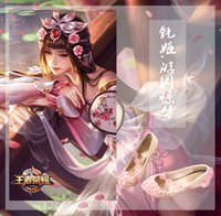 ingrosso pelle cosplay-Wild2019 Glory King Garden Il sogno interrotto Skin Zhen Ji Cosplay Cos Shoe