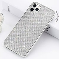 Wholesale bling full diamond case iphone online – custom Glitter Plating Soft TPU Full Diamond Bling Case for iPhone Pro Max XS XR X S Plus Samsung S7 Edge S8 S9 S10 S10e Note