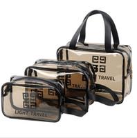 ingrosso chiaro sacchetti tote trasparenti-Sacchetto trasparente cosmetico trasparente per il trucco della borsa della toilette con cerniera in PVC Trasparente Custodia impermeabile Tote LJJK1649