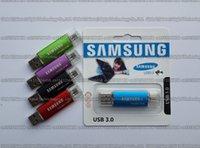 Wholesale usb stick samsung resale online - 8GB GB GB GB GB GB Samsung OTG usb flash drive USB3 pendrive Real capacity OTG flash Memory stick U disk